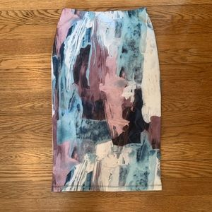 MOSSIMO Watercolor Pencil Skirt Size XS!